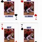 Brent Lillibridge 2008 Richmond Braves 4 cards - 1 each suit
