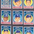 Team Members -   Artist Portrait of 1957 Brooklyn Dodger's Players