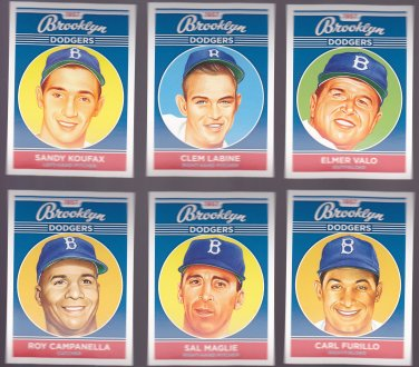 Clem Labine   -   Artist Portrait of 1957 Brooklyn Dodger's Players