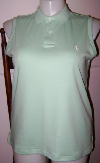 Womens Ralph Lauren Polo Top - Mint Green- Size L Large
