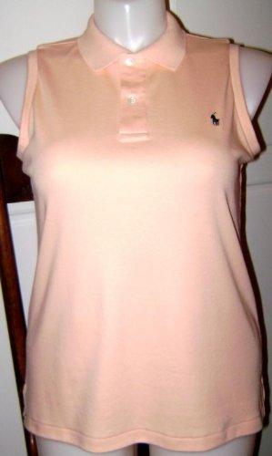 Womens Ralph Lauren Polo Top - Peach - Size L Large