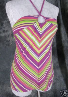 Victoria's Secret Knit Tie Halter Top Womens Medium M