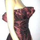 DRAMATIC Vintage Victor Costa Ruffled Bust Dress 14 M/L