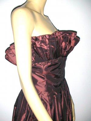 DRAMATIC Vintage Victor Costa Ruffled Bust Dress 14 M/L