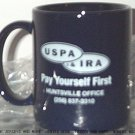 USPA IRA MUG coffee tea HUNTSVILLE, AL office blue white