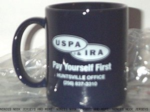 USPA IRA MUG coffee tea HUNTSVILLE, AL office blue white