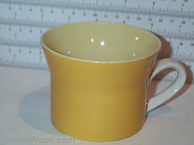 Mikasa Yellow Coffee Mug Tea Cup C4300 oven table dishwasher
