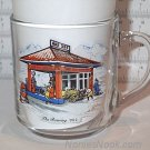 GULF Roaring 20's Clear Glass Coffee Mug