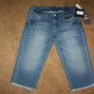 Womens AUTHENTIC Seven 7 Frayed Crop Capri Jeans SZ 29