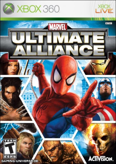 NEW MARVEL Ultimate Alliance GOLD Edition XBOX 360 LIVE 047875821316