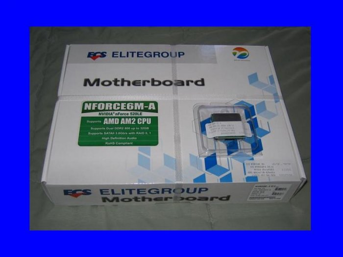 NEW OEM AMD Athlon 64 X2 5600+ Dual Core + ECS  NFORCE6M-A Motherboard Combo