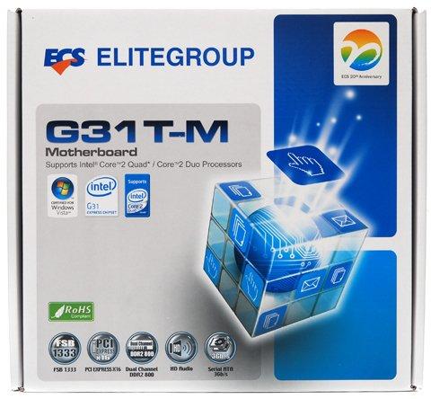 NEW Intel ECS G31T-M Motherboard LGA 775 Core 2 Duo Quad Micro ATX PC
