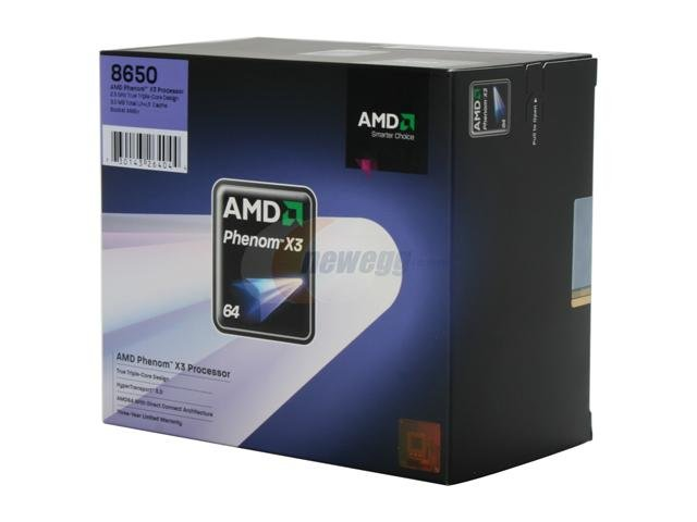 AMD Phenom 8650 Toliman 2.3GHz 3 x 512KB L2 Cache 2MB L3 Cache Socket AM2+ 95W Triple-Core Processor