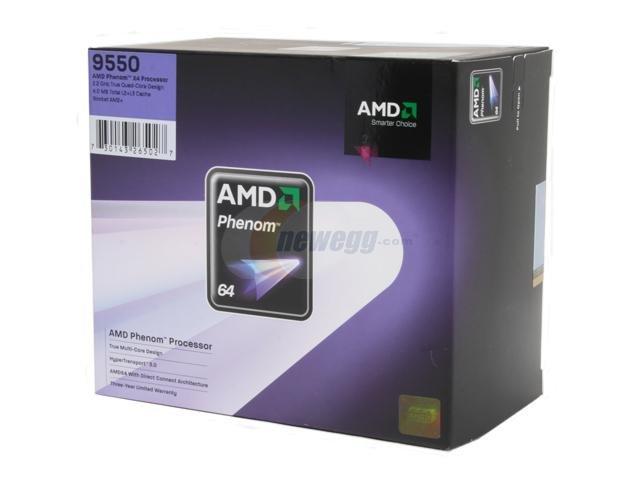 NEW AMD Phenom 9550 X4 2.2Ghz Quad Core CPU Processor AM2 Fan Heatsink HD9550WCGHBOX
