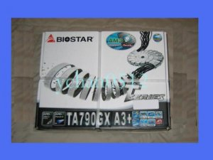 NEW BIOSTAR TA790GX A3+ MOTHERBOARD AMD SOCKET AM3 ATHLON