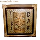 Hawaiian God Ku Tiki Bar Room 3D Sign Bamboo Mask