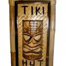 Hawaiian Ku Mask 3D Tiki Hut Bar Bamboo Sign/Wood Sign