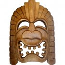 Hawaiian God Ku Large Tiki Monkey Pod Wood Mask 13x10""