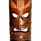 "Hawaiian God Ku Hand Carved/Painted Tiki Wood Mask/Wall Hanging 12"" - Brown/Green"