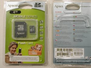 Apacer Micro SD SDHC 4GB with Adapter