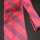 Ralph Lauren Red Necktie w/Navy Stripes