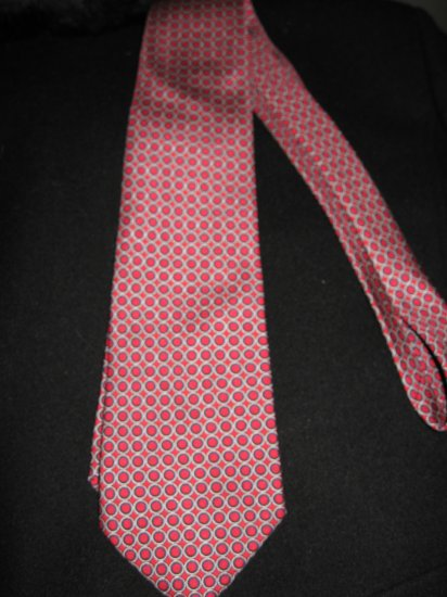 Ralph Lauren Red and Navy Circle Pattern Necktie