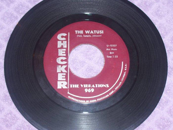 The Vibrations The Watusi / Wallflower  Checker 969   45   Northern Soul