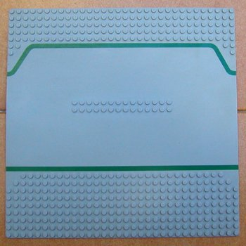 LEGO BASEPLATE BASE PLATE ROAD TOWN SERVICE STATION