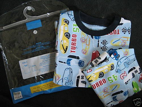 NWT TCP CHILDREN PLACE SHORTS TOP PAJAMA PJ RACE CAR 2