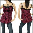 NWT TORRID EMPIRE BABYDOLL CAMI CLEAVAGE TOP 1 XL 14/16