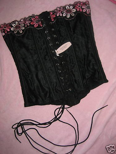 NWT VICTORIA SECRET LACED TIE OVERBUST CORSET S SMALL