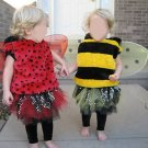 TWIN HALLOWEEN COSTUMES LADYBUG BUMBLE BEE TUTU 18MO 2T