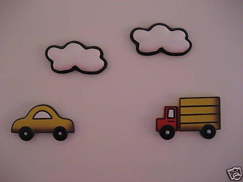 WALL DECOR CAR TRANSPORTATION BOYS ROOM NURSERY KIDS