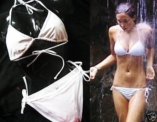 NEW VICTORIA SECRET WHITE SEXY STRING TRIANGLE BIKINI M