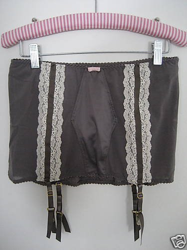 NWT VICTORIA SECRET RETRO HIGH WAIST GARTER PANTY M