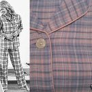 NEW WOMAN PRETTY PLAID FLANNEL PAJAMA PJ SET LOUNGE M-L