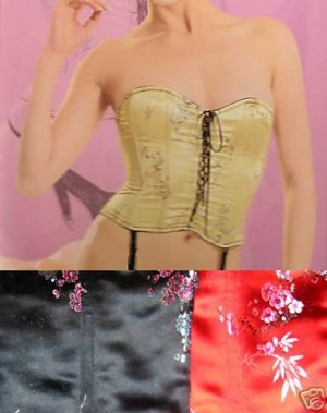 NWT SEXY GEISHA GIRL  BUSTIER CORSET COSTUME L LARGE