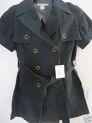 NEW VICTORIA SECRET DOUBLE BREASTED LINEN TRENCH COAT L