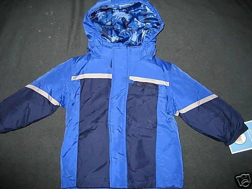 NWT BOYS HEAVY 4-IN-1 JACKET COAT WINTER BLUE 18MO 18
