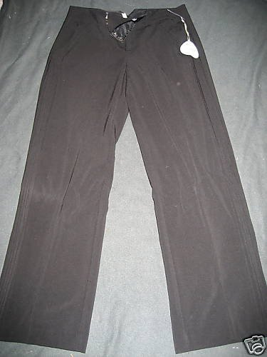 NWT $200 CHENAULT BLACK WIDE LEG DRESS PANTS BLACK 6