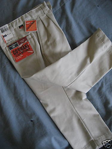 NWT DOCKERS BOY DRESS SCHOOL UNIFORM KHAKI PANTS 4 SLIM