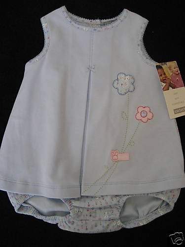 NWT CARTER BLUE FLOWER SUNSUIT DRESS 9MO 9 KEEP COOL