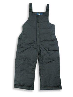 NWT BOYS BLACK WINTER SKI SNOW PANTS BIB SNOWPANTS 5/6
