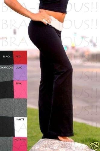 VICTORIA SECRET FIT&FLARE LONG YOGA PANT FOLDOVER XS
