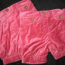 NWT LOT TWINS OLD HAVY PINK BUBBLE SHORTS 12 18 MO