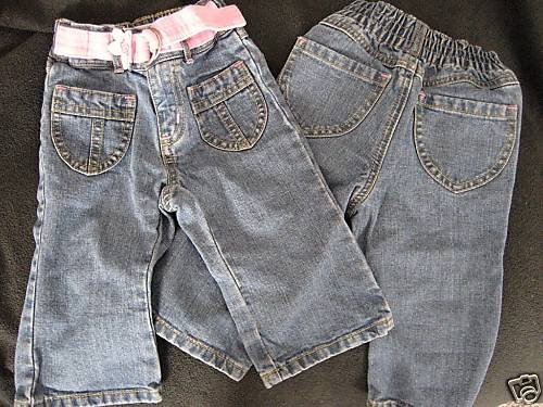 NEW OLD NAVY GIRL PANTS TODDLER JEANS LOT TWINS 12-18 M