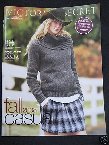 VICTORIA SECRET CATALOG FALL CASUAL SALE 2008