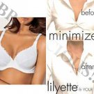 LILYETTE FULL FIGURE  MINIMIZER BRA PRETTY LACE 38D 962