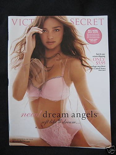 VICTORIA SECRET SPRING MIRANDA KERR ANGEL CATALOG 2008