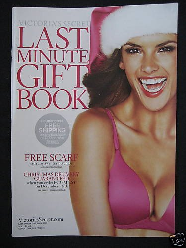 VICTORIA SECRET CHRISTMAS 2005 CATALOG Alessandra